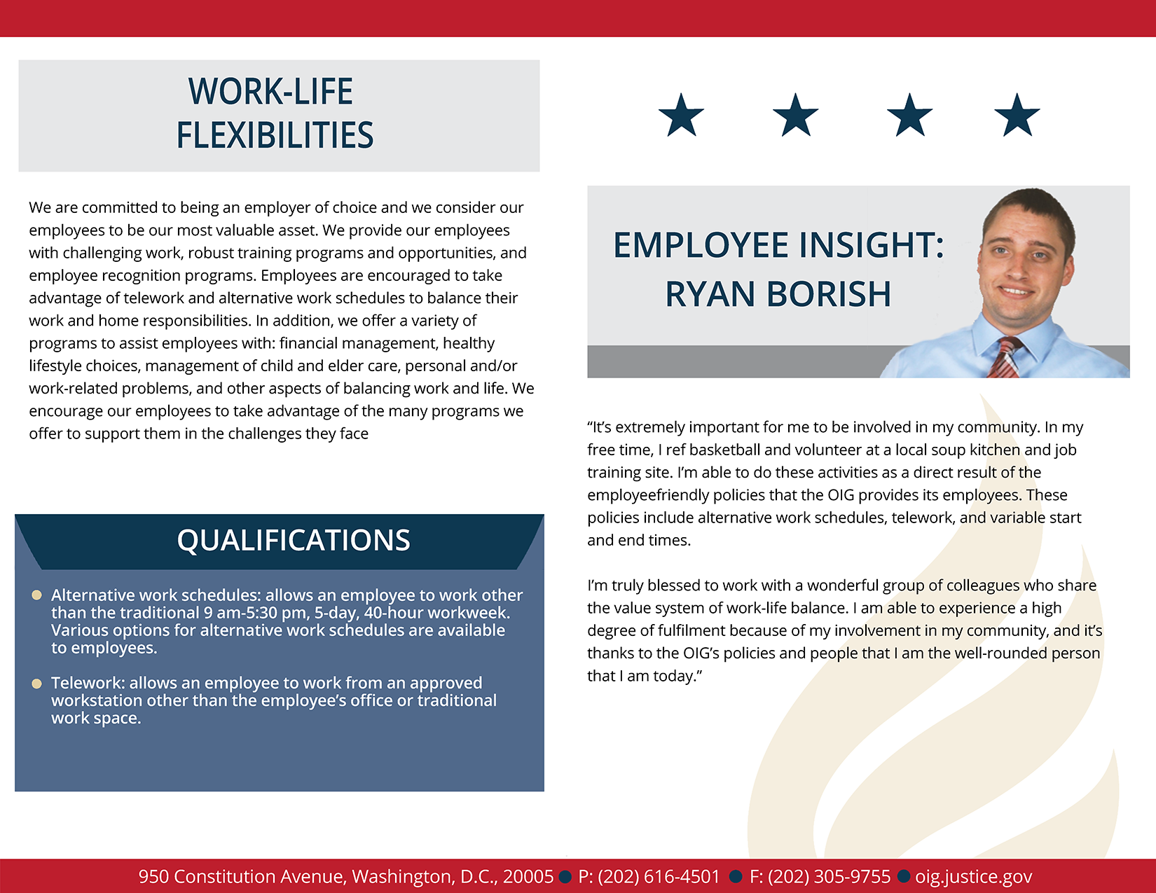 Learn more about work life flexibilities