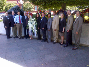 Group at Sentner memorial